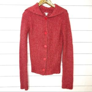 Anthropologie LUX Mohair Button Up Cardigan